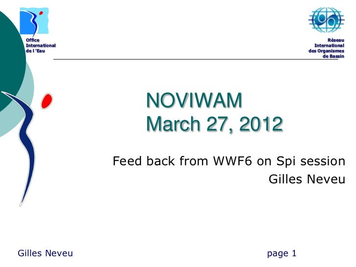 Feed back wwf6 gn march 2012