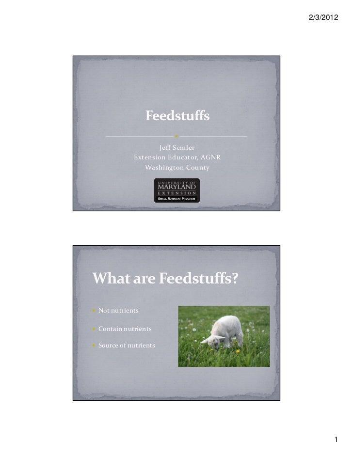 Feedstuffs