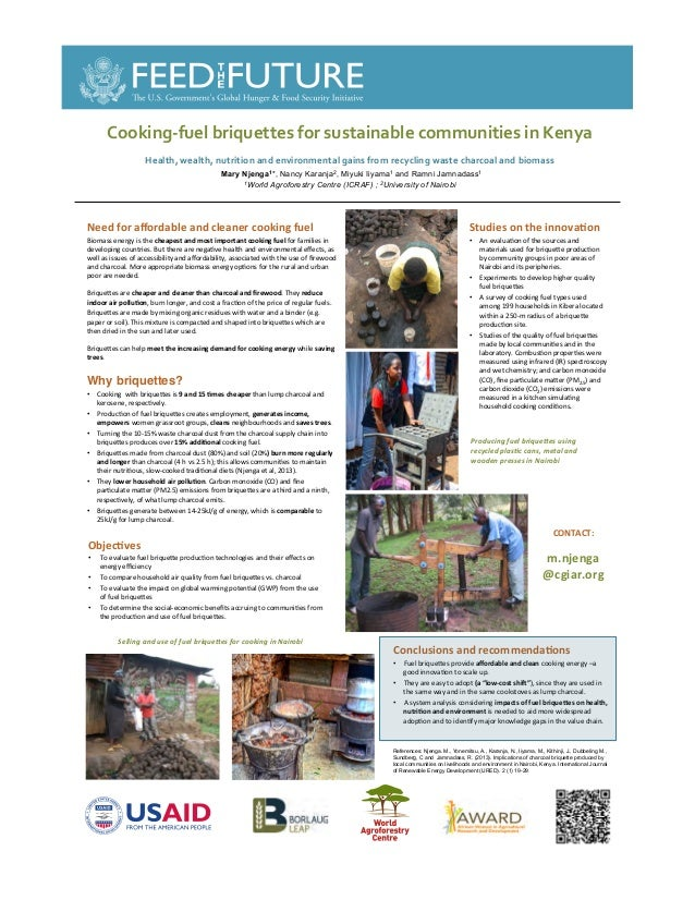 Cooking fuel briquettes for sustainable communities in Kenya