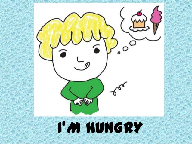 Hungry kid cartoon