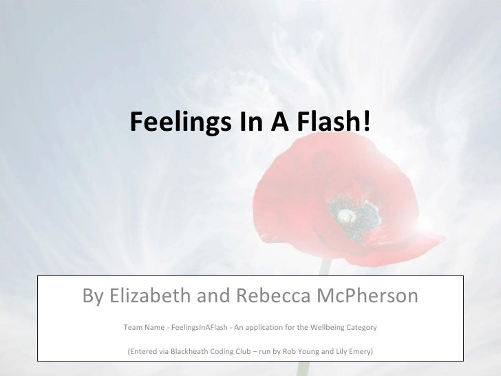 Feelings in a flash