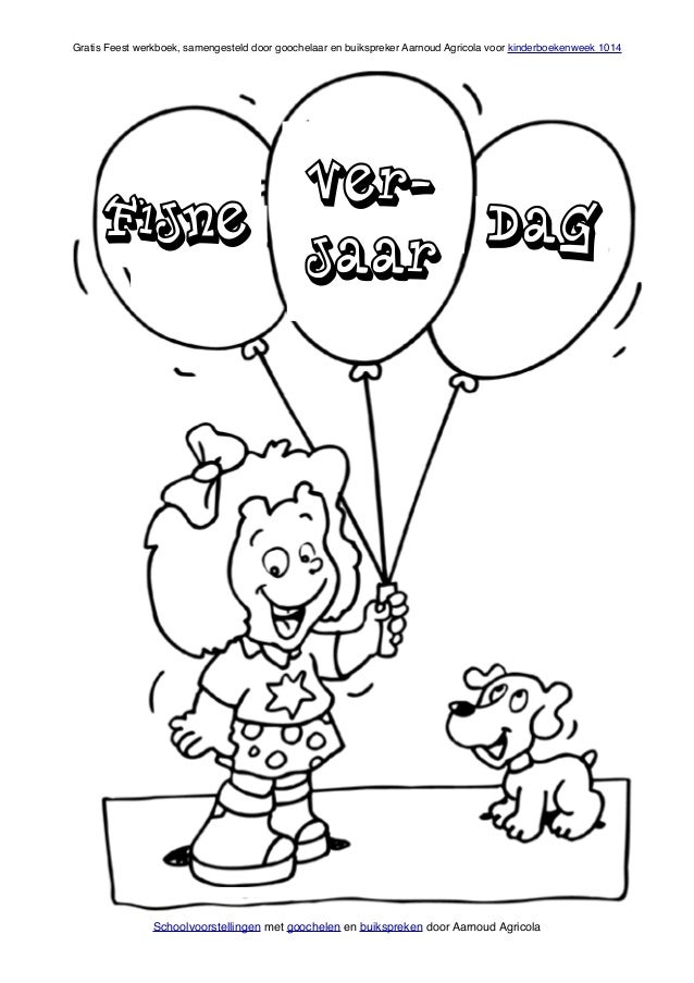 Feest Werkboek Voor Kinderboekenweek 2014 Van Goochelaar