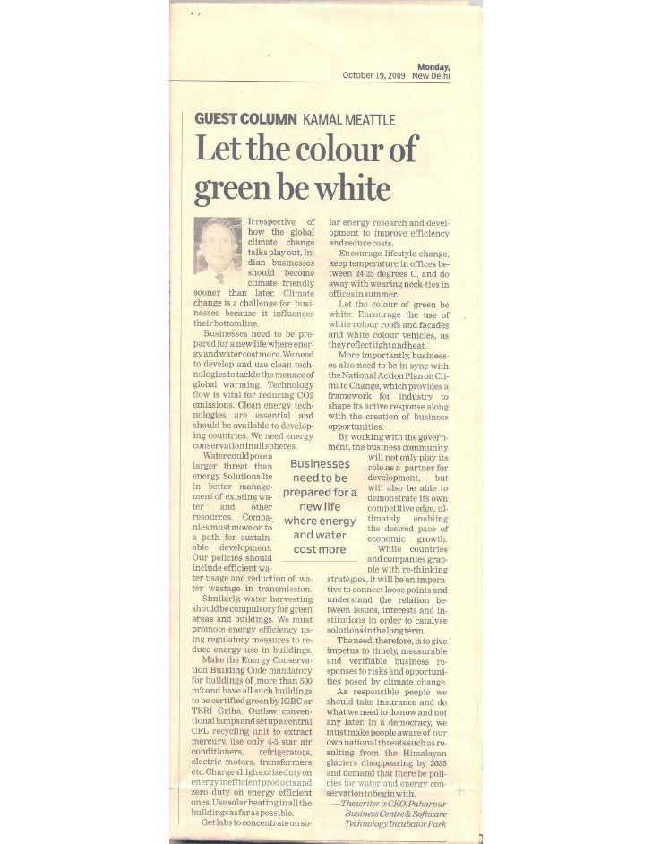 Let the colour of Green be White