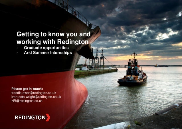 Private & Confidential Redington - St.Annes College Oxford May 2014 Please get in touch: freddie.ewer@redington.co.uk ivan...