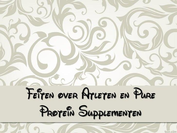 Pure Protein supplementen voor atleten
