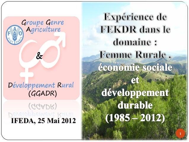 1 IFEDA, 25 Mai 2012IFEDA, 25 Mai 2012