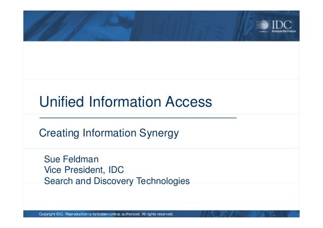 II-SDV 2012 Towards Unified Access Systems for Data Exploration