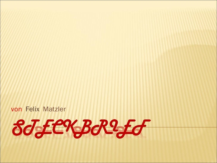 von   Felix  Matzler