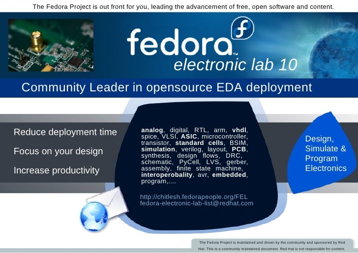 The Fedora Project is out front for you, leading the advancement of free, open software and content.                      ...