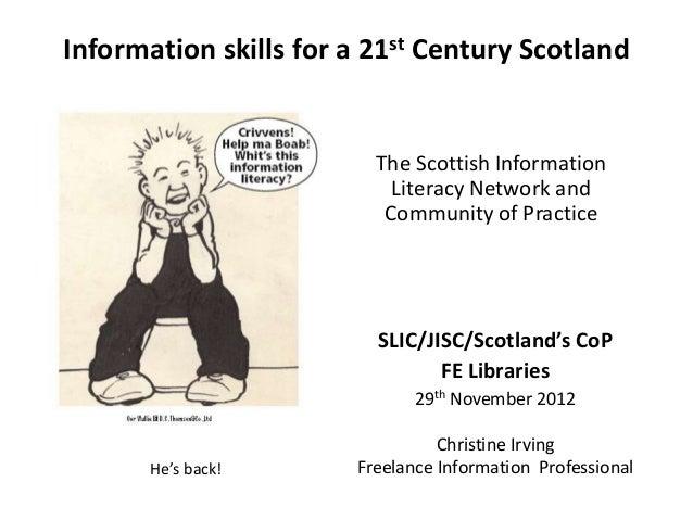 SLIC/JISC/Scotland's CoP FE Libraries conference 2012