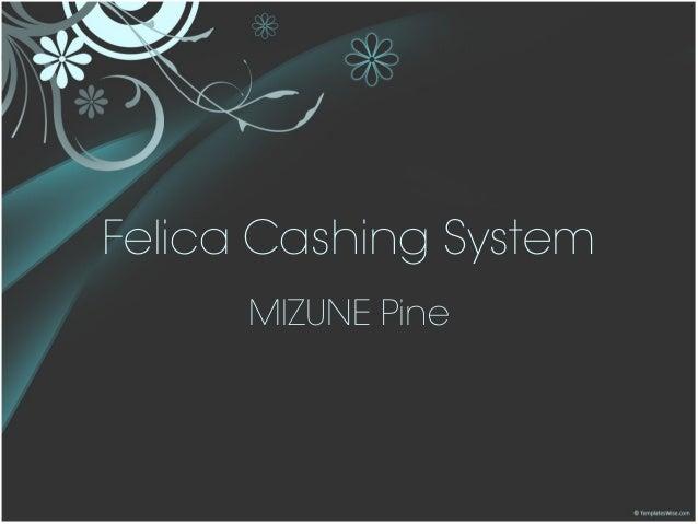 Felica Cashing System MIZUNE Pine