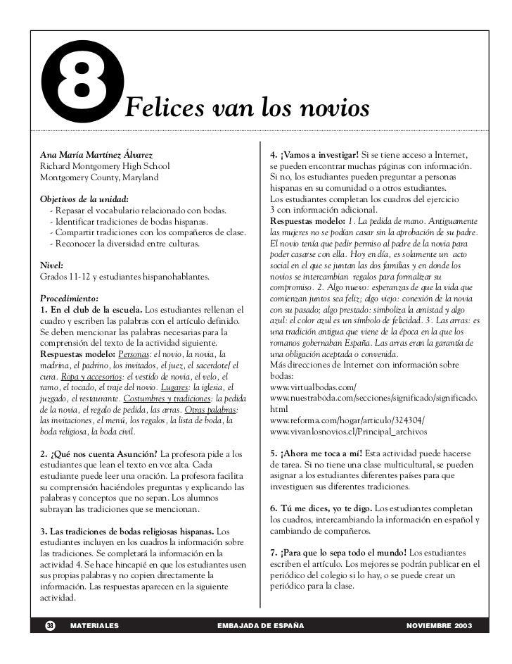 8                  Felices van los noviosAna María Martínez Álvarez                                      4. ¡Vamos a inves...