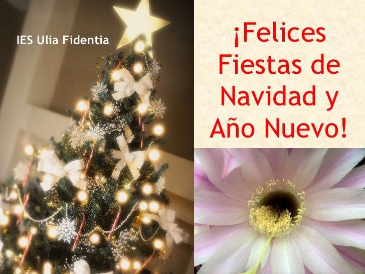 ¡Felices Fiestas de Navidad y Año Nuevo! IES Ulia Fidentia