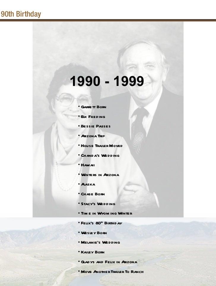 90th Birthday                1990 - 1999                 • Garrett Born                 • Elk Feeding                 • Be...