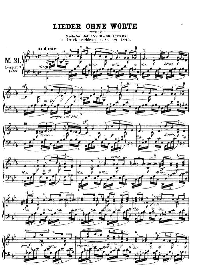Felix mendelssohn   romances sans paroles - 6 pieces - op. 67