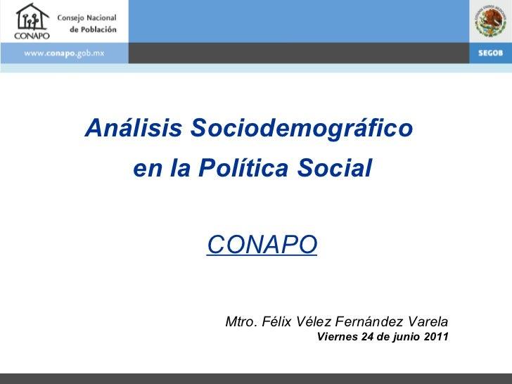 Análisis Sociodemográfico en la Política Social