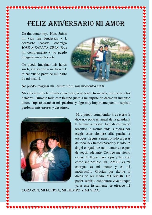 Feliz Aniversario Amor en Español Feliz Aniversario mi Amor un