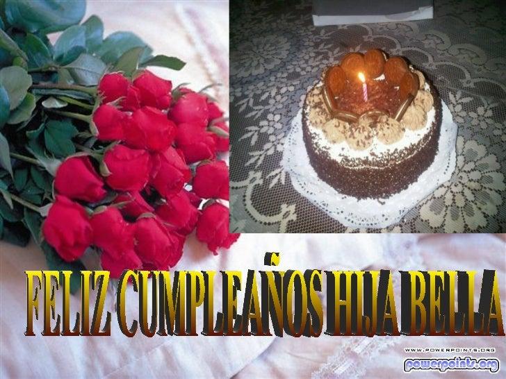 Feliz cumpleaños mi bella