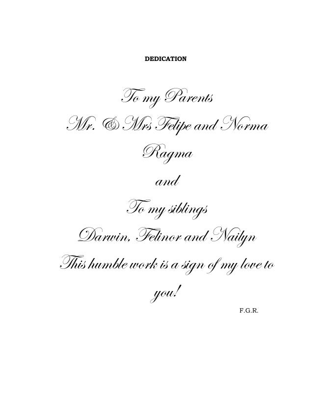 dedication thesis page