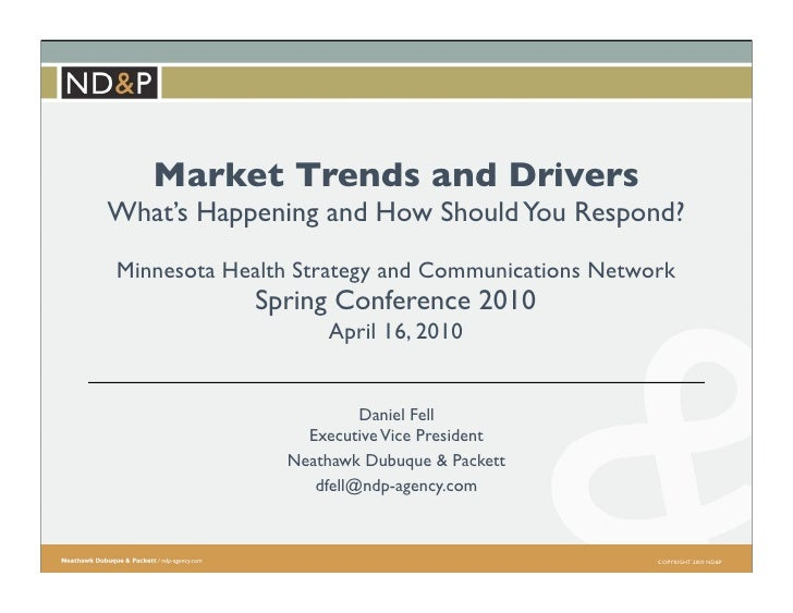Market Trends and Drivers What's Happening and How Should You Respond? Minnesota Health Strategy and Communications Networ...