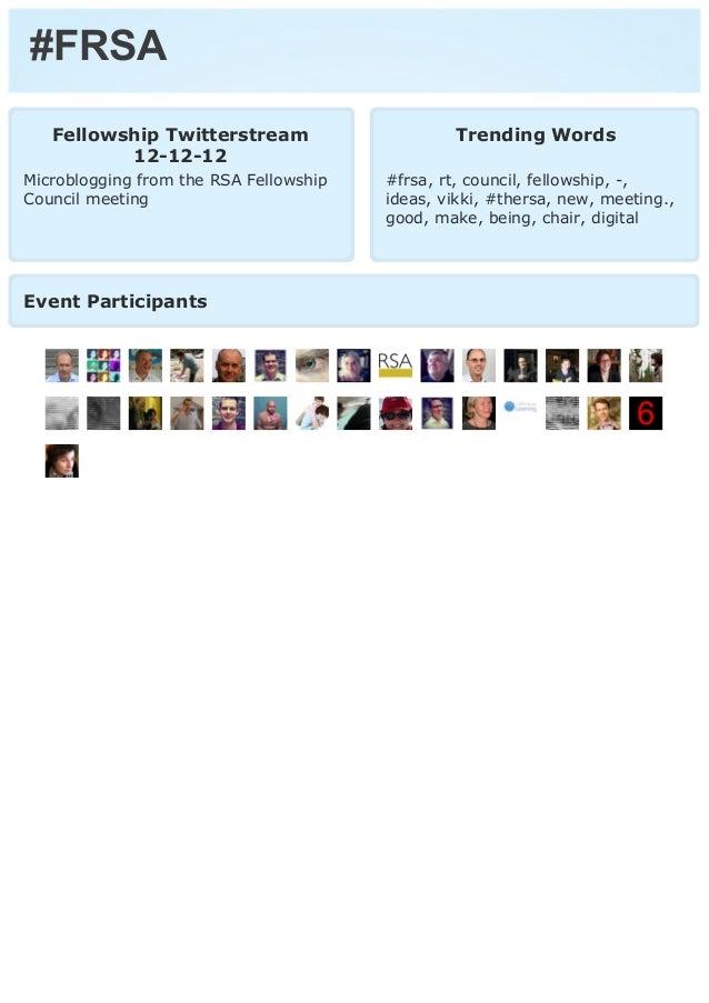 RSA Fellowship Council Twitterstream 12-12-12