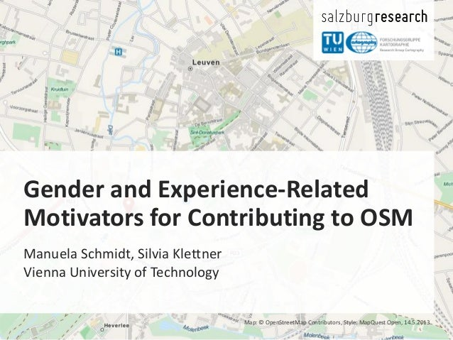 Gender and Experience-Related Motivators for Contributing to OpenStreetMap