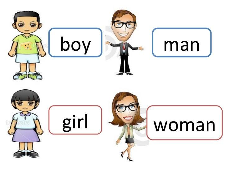 boy girl man woman