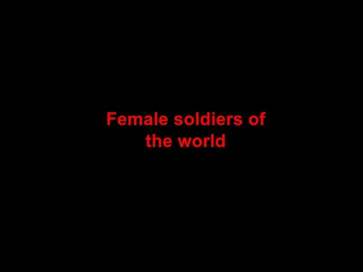 Femalesoldiersoftheworld