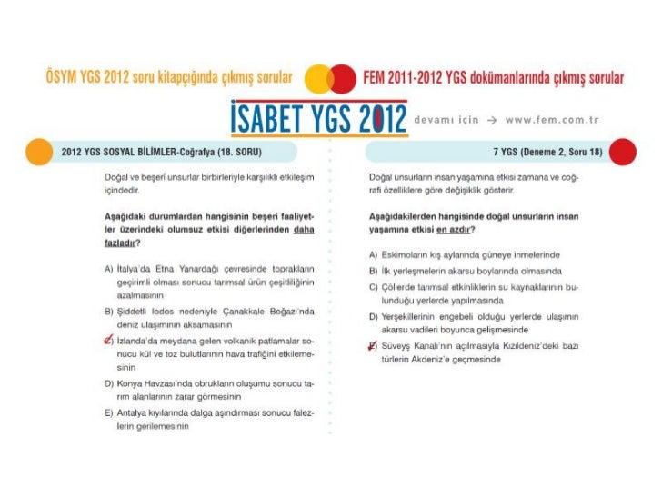ÖSYM 2012 YGS Coğrafya Soruları