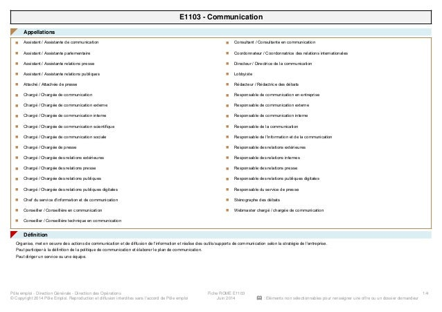 E1103 - Communication Appellations◤ Assistant / Assistante de communicationn Assistant / Assistante parlementairen Assista...