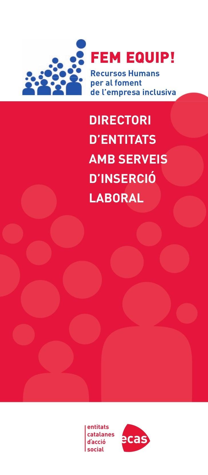 Directori d'entitats amb serveis d'inserció laboral