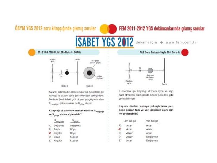 ÖSYM 2012 YGS Fizik Soruları
