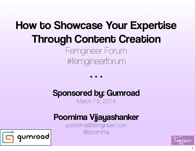 How to Showcase Your Expertise Through Content Creation