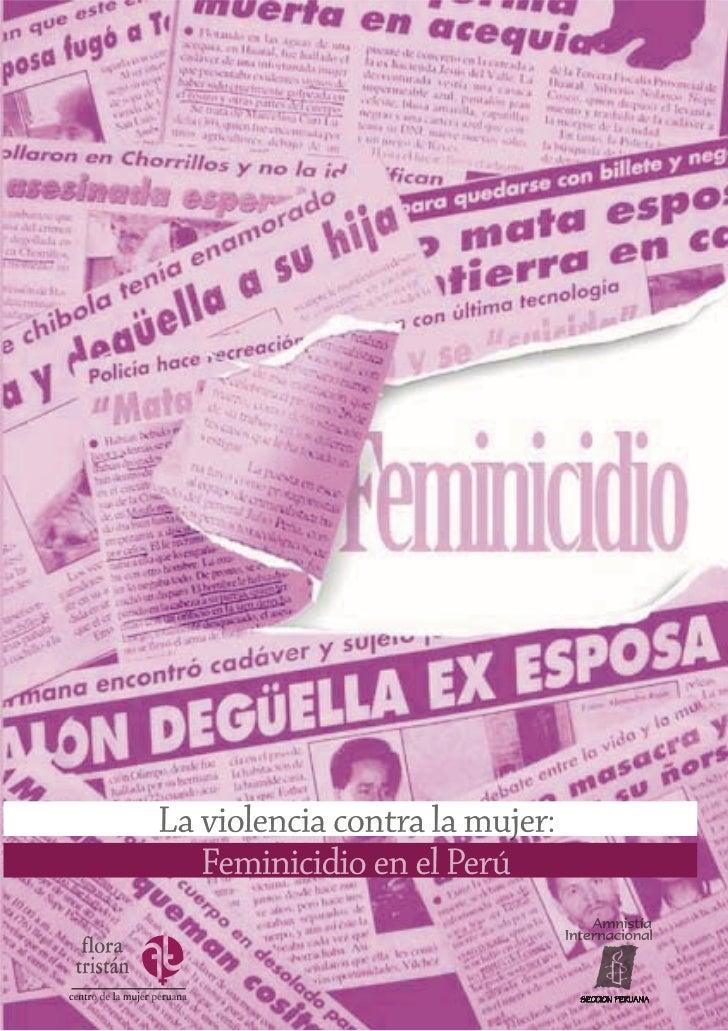 La Violencia contra la mujer: Feminicidio en el Perú                                                       1