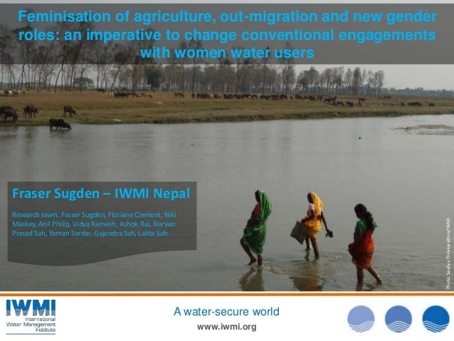 Feminisation of agriculture, out-migration and new gender roles: an imperative to change conventional engagements with wom...