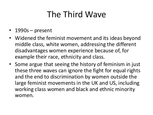 the three waves of feminism Spender, feminist theorists: three centuries of key women thinkers, pantheon  books, 1983, pp75-89 22  the history of feminism consists of three waves.