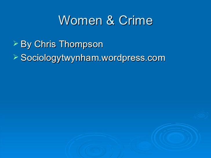Feminism gender & crime