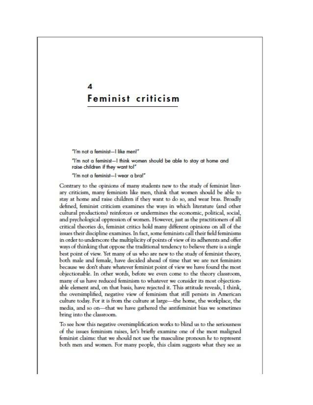 Feminist crit