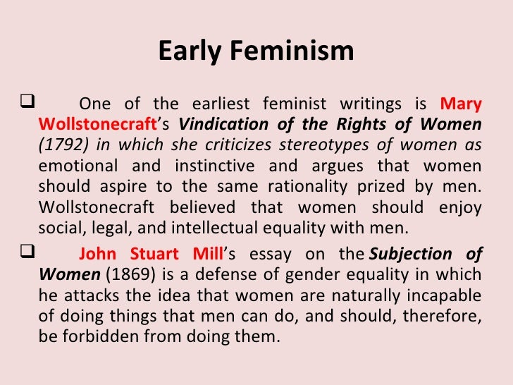 feminism and early women writers