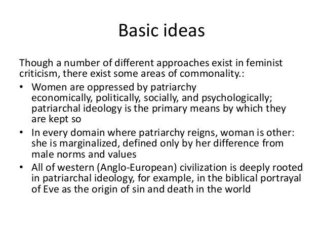 Theories Of Patriarchy Essay