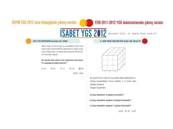 ÖSYM 2012 YGS Matematik Soruları