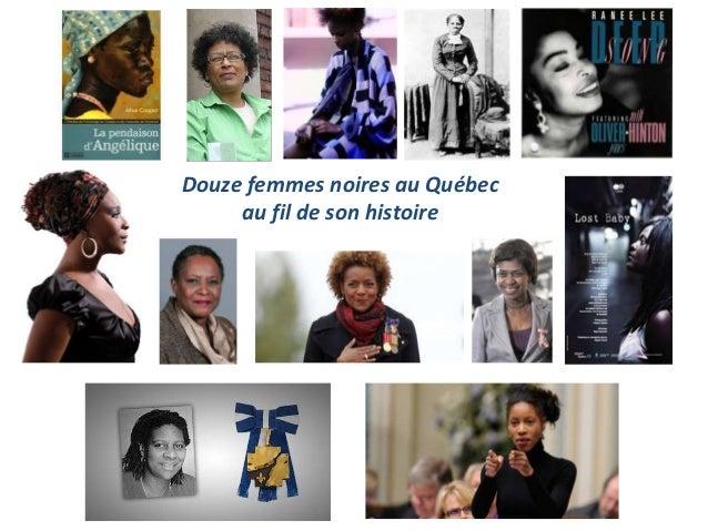 Douze femmes noires au Québec     au fil de son histoire