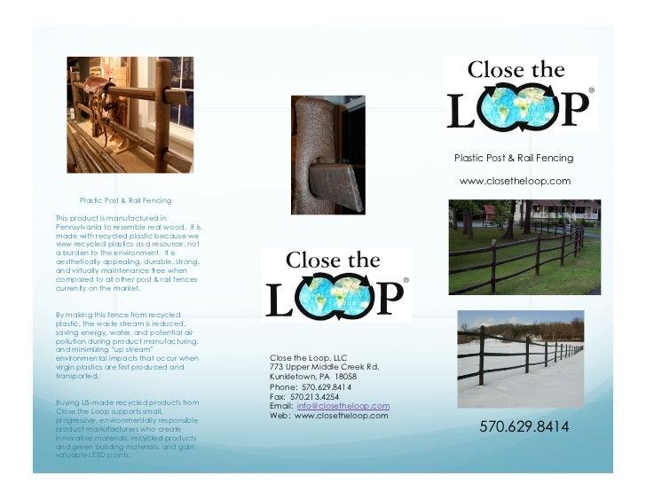 Plastic Post & Rail Fencing                                                                            www.closetheloop.co...
