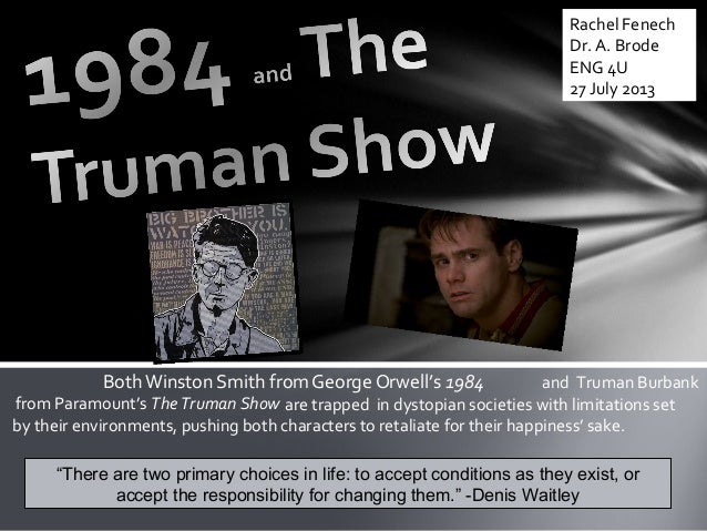 trapped the truman show and passage Truman's choice truman show as truman prepares to leave the confines of his world for the first time,  rite of passage -5-ritual -1  trapped -21-trauma -2.