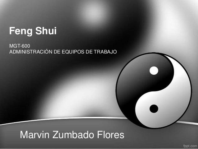 Feng ShuiMGT-600ADMINISTRACIÓN DE EQUIPOS DE TRABAJOMarvin Zumbado Flores
