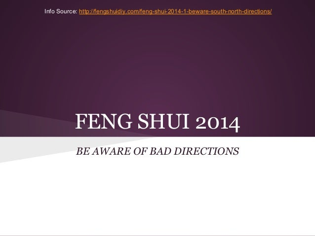 Feng Shui 2014 - Bad Directions to Avoid