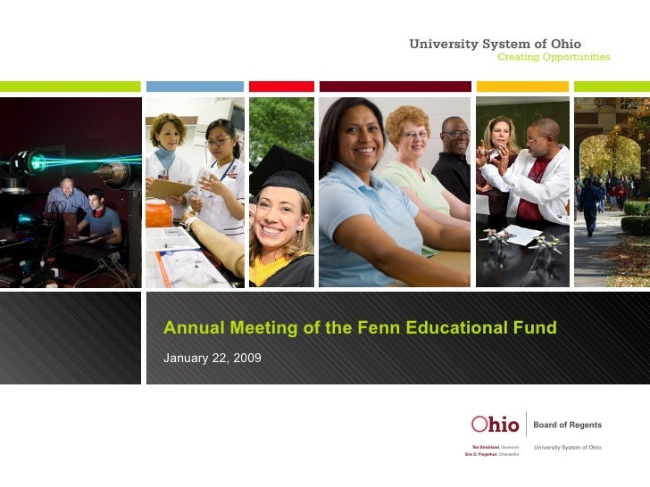 Annual Meeting of the Fenn Educational Fund January 22, 2009