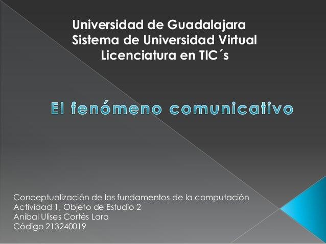 Universidad de Guadalajara             Sistema de Universidad Virtual                  Licenciatura en TIC´sConceptualizac...