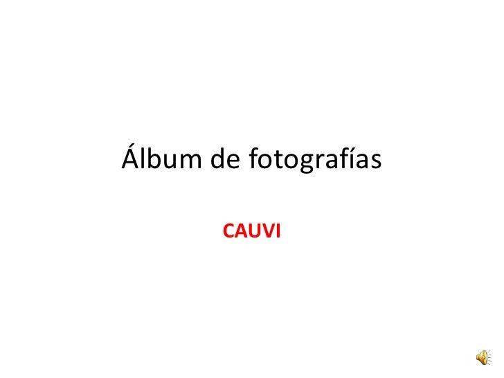 Álbum de fotografías<br />CAUVI<br />