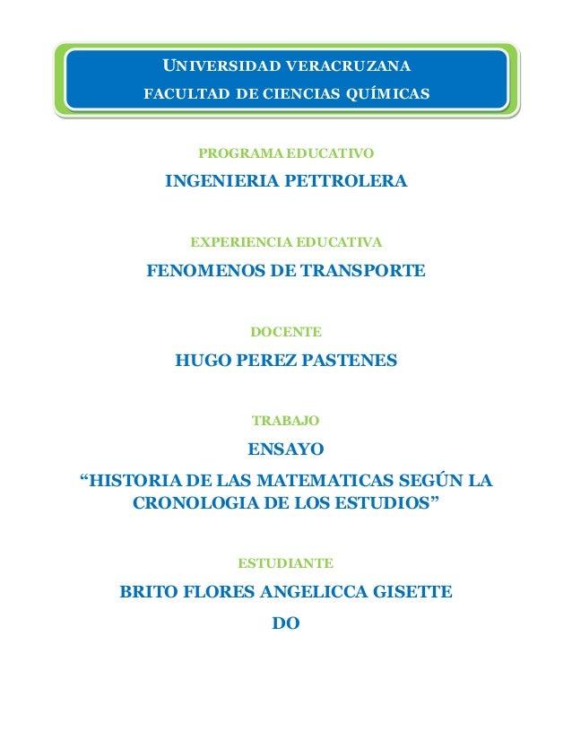 PROGRAMA EDUCATIVO INGENIERIA PETTROLERA EXPERIENCIA EDUCATIVA FENOMENOS DE TRANSPORTE DOCENTE HUGO PEREZ PASTENES TRABAJO...